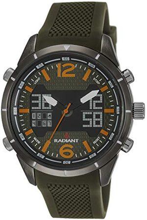 Radiant Analoog digitaal polshorloge voor heren, kwarts, met rubberen armband RA457602