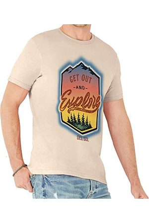 Del Sol Del Sol Crew Tee voor dames, Get Out and Explore, natuurlijk T-shirt, verandert van zwart naar levendige kleuren in de zon, 100% gekamd, ringgesponnen katoen, Relaxed Fit - maat S