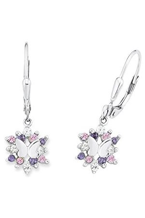 Prinzessin Lillifee 9245703 Kinderoorbellen voor meisjes, vlinder, zirkonia/925 sterling zilver, gerhodineerd, eén maat