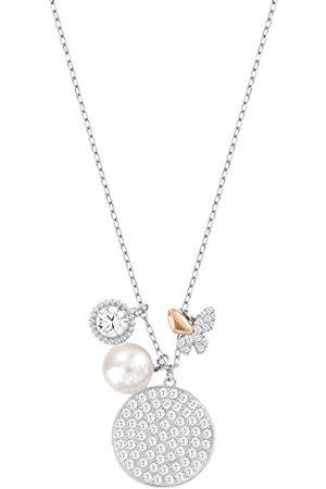 Swarovski Damesketting met hanger Cute Cry Mix gerhodineerd kristal transparant 45 cm - 5111222