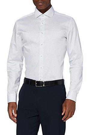 Seidensticker Zijdesticker heren slim lange mouwen print twill klassiek overhemd