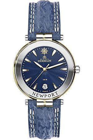 Michel Herbelin Unisex volwassene analoog horloge met lederen armband 12255/T35