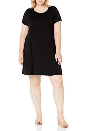 Amazon Plus Size korte mouwen Scoopneck Swing Jurk, , 6X