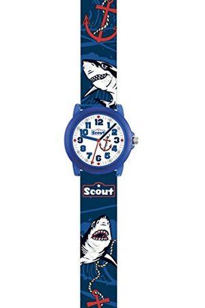 Scout Analoog kwartshorloge voor jongens, met PU-armband 280305032