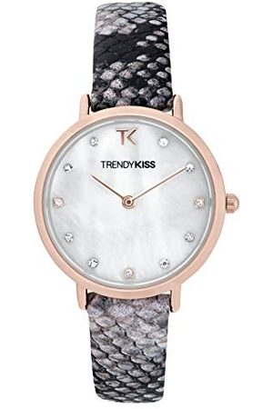 Trendy Kiss Dameshorloge, analoog, kwarts, met lederen armband, TRG10133-01