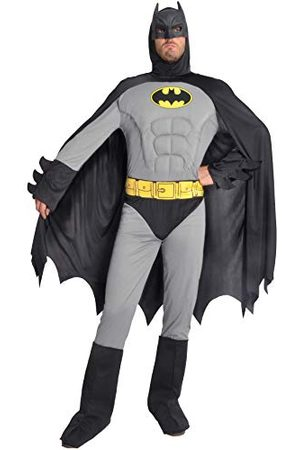 CIAO Batman Classic kostuum voor volwassenen Original DC Comics (maat XL) met gevoerde borstpoten, kleur / , XL, 11685.XL