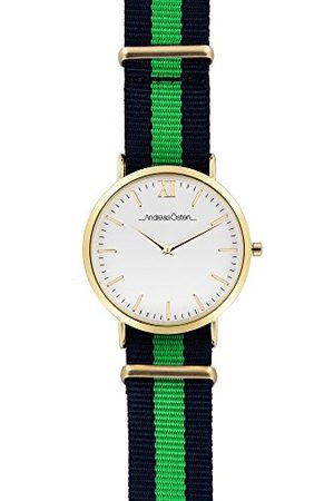 Andreas Osten Andreas Oosten, unisex analoog kwarts horloge met nylon armband AO-69