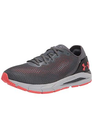 Under Armour Men's HOVR Sonic 4 Road Running Shoe, Pitch Gray/Halo Gray/Venom Red (105), 12 UK
