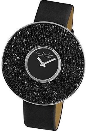 Jacques Lemans Dames analoog kwarts horloge met lederen armband LP-118A