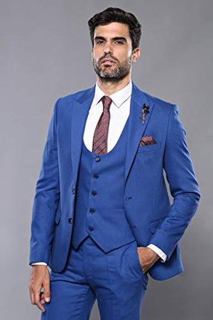 Wessi Slank pasvorm, pak met patroon, voor heren, met vest