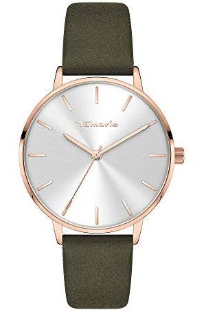 Tamaris Dames analoog kwarts horloge met lederen armband TT-0010-LQ