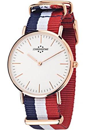 Chronostar Dames analoog kwarts horloge met nylon armband R3751252501