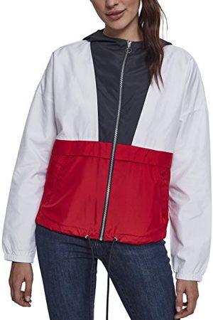 Urban classics Damesjas overgangsjas dames 3-kleurige oversize windbreaker, lichte streetwear slipjas, color-blocking overtrekjas