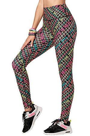 Zumba Fitness Hoge Taille Workout Fitness Compressie Activewear Gym Leggings Vrouwen, Multi , L