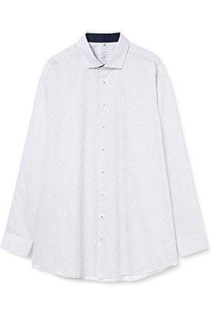Seidensticker Zakelijk overhemd voor heren, strijkvrij overhemd met rechte pasvorm, regular fit, lange mouwen, Kent-kraag, borstzak, 100% katoen