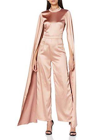 Amelia Rose Dames Jumpsuit met hoge hals met open cape mouwen bruidsmeisje jurk