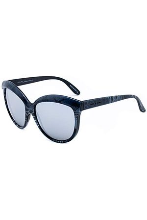 Italia Independent Dames 0092INX-071-000 zonnebril, meerkleurig (gris/negro), 58.0