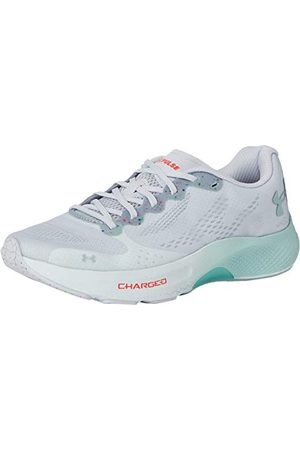 Under Armour Women's Charged Pulse Road Running Shoe, Halo Gray/Sea Glass Blue/Enamel (103), 4.5