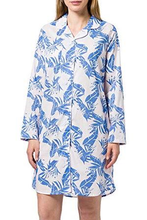 Seidensticker Zijdesticker dames popeline knopen lange mouwen nachthemd