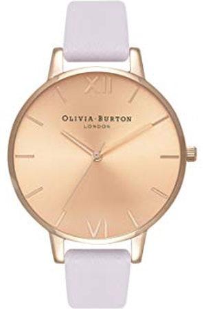 Olivia Burton Dames analoog kwarts horloge met lederen armband OB16BD110