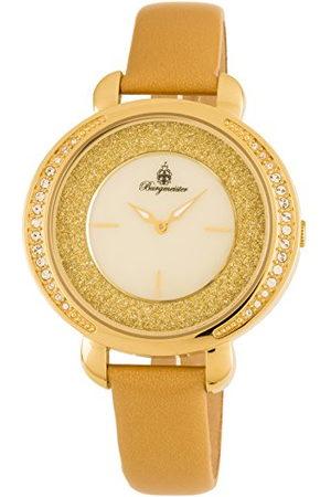 Burgmeister BM808-279 Nancy Horloge voor dames met analoge weergave, kwartshorloge en lederen armband - Waterdicht dameshorloge met tijdloos, stijlvol design