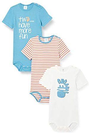 Sanetta Baby-jongens body in set turquoise kleine kinderen ondergoed set