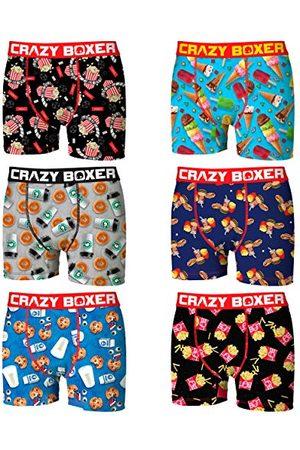 Crazy Boxer T097-1-M boxershorts, microvezel, 92% polyester, 8% elastaan, meerkleurig, M