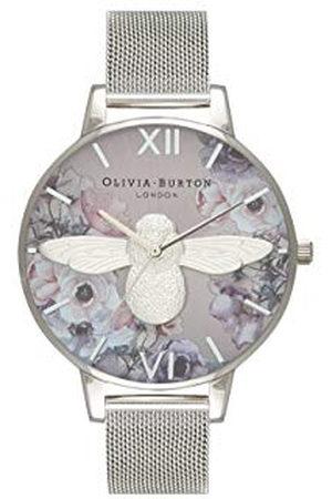 Olivia Burton Vrouwen Analoog Japans Quartz Horloge met RVS Band OB16PP42