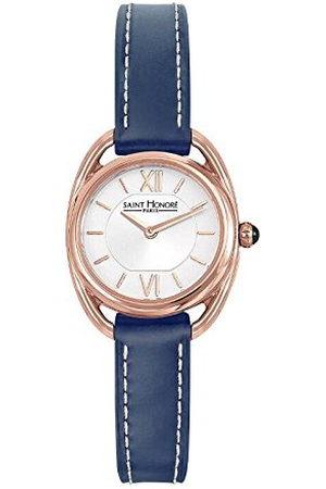 Saint Honore Dames analoog kwarts horloge met lederen armband 7210268AIR-BLU