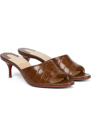 Christian Louboutin East Mule 55 croc-effect leather sandals