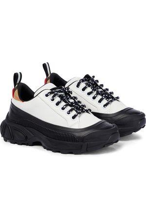 Burberry Mini Arthur leather sneakers