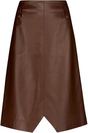 Dorothee Schumacher Exciting Softness leather midi skirt
