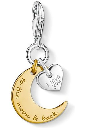 Thomas Sabo Bedelhanger voor dames I Love You To The Moon & Back Maan Hart Charm Club 925 sterling zilver 1443-413-39