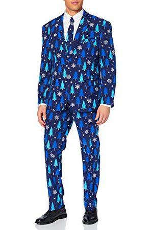 OppoSuits Fun Ugly Christmas for Men - Winter Woods - Full Pass: Jacket, Pants & Tie Kostuum D39, heren - - 27