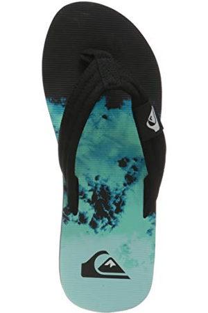 Quiksilver Molokai Layback Flip-Flops voor heren, Black Green Blue, 44 EU