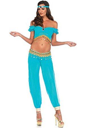 Leg Avenue 85623 3-delige set woestijnbaarheid, dames carnaval kostuum, S, turquoise