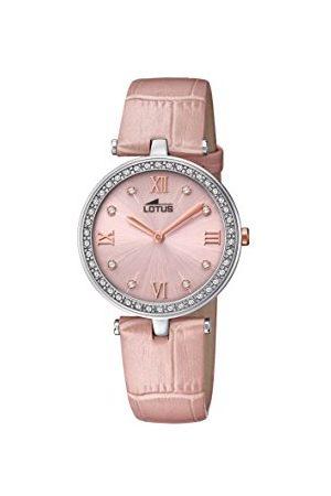 Lotus Dames datum klassiek kwarts horloge met lederen armband 18462/3