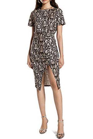 Ivy Revel Dames Jerseyjurken - Dames Front Wrap Jersey Dress Jurk