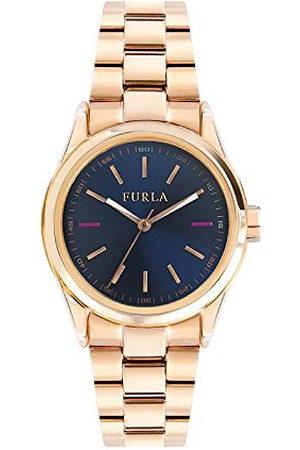 Furla Dames datum klassiek kwartshorloge met roestvrij stalen armband R4253101501