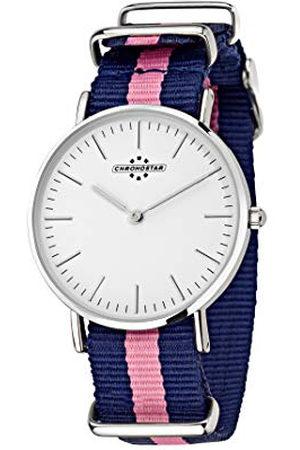 Chronostar Dames analoog kwarts horloge met nylon armband R3751252502