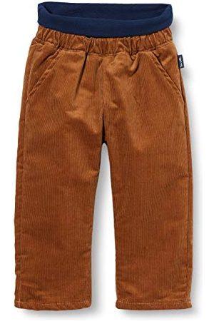 Sanetta Fiftyseven gevoerde broek voor babyjongens, cognac, comfortabele corduroy broek met een warme voering voor koude dagen.