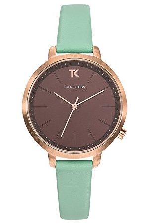 Trendy Kiss Dames analoog kwarts horloge met lederen armband TRG10104-08