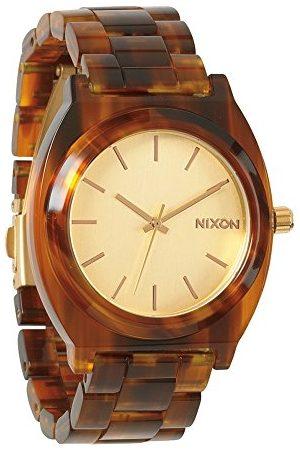 Nixon Dameshorloge Time bord acetaat goud/molasses analoog kwarts plastic A3271424-00