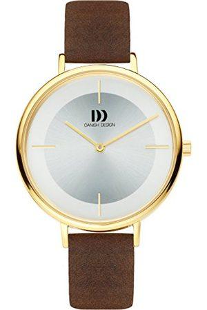 Danish Design Dames analoog kwarts horloge met lederen armband IV15Q1185