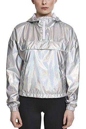 Urban classics Dames windbreaker jas overgangsjas dames holografische pull-over jas