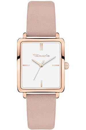 Tamaris Dames analoog kwarts horloge met lederen armband TT-0016-LQ