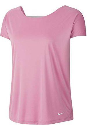 Nike Dames W NP DRY ELASTIKA SS TOP ESSNT T-shirt, magisch flamingo/barely rose / , M