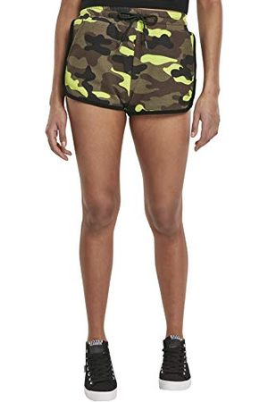 Urban classics Dames Dames Bedrukte Camo Hot Pants Shorts