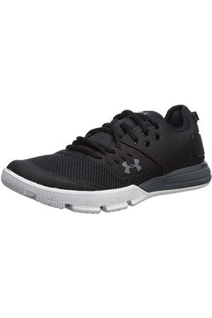 Under Armour Men's Charged Ultimate 3.0 Fitness Shoes, Black Black Pitch Gray Pitch Gray 001 001, 6.5 UK