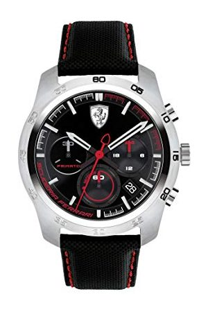 Scuderia Ferrari Heren chronograaf quartz horloge met lederen band 0830444